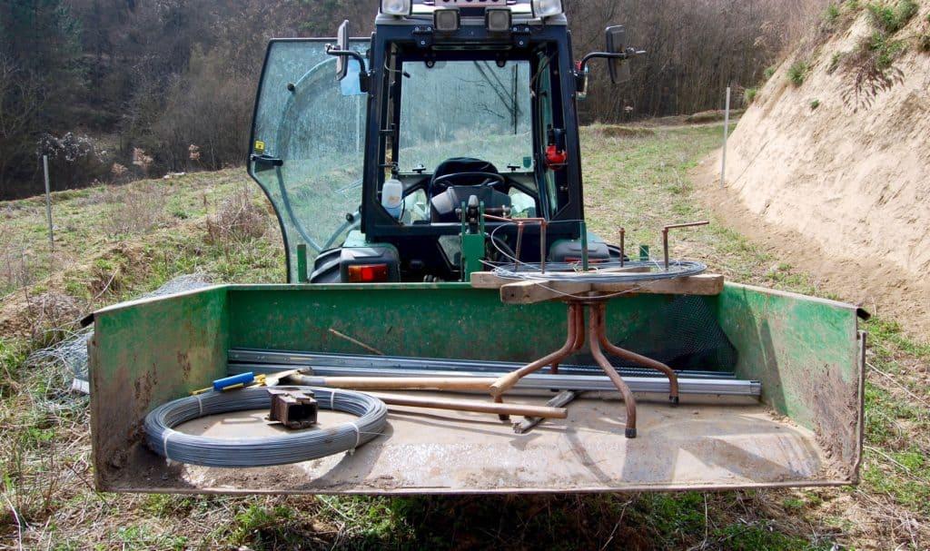 Schafweide: Ausrüstung für Wildzaun