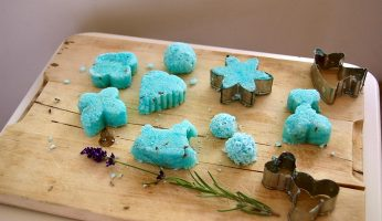 Selbstgemachte Lavendel-Badepralinen