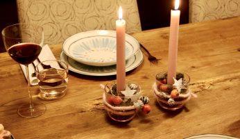 schnelle weihnachtliche Tisch-Deko