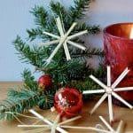 Einfache Weihnachtssterne basteln