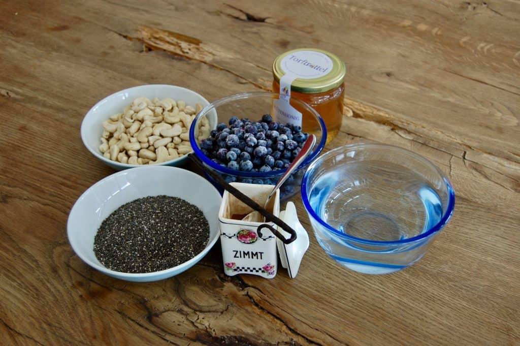 Chiasamen-Pudding: Zutaten
