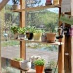Glashaus im Garten