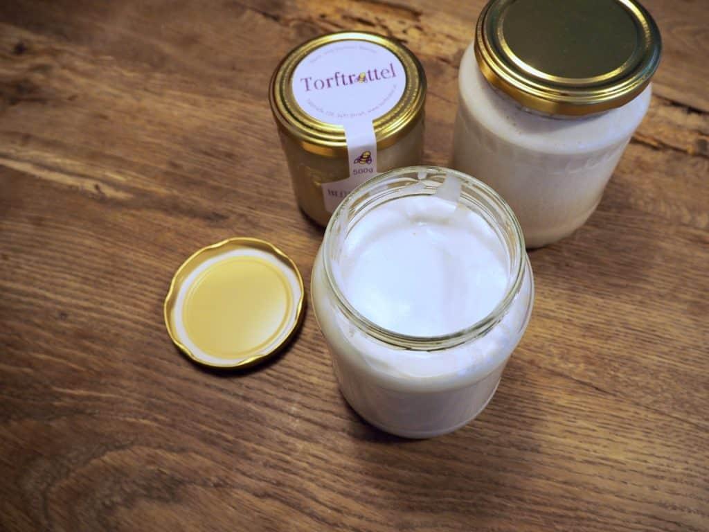 Honigschaum im Glas