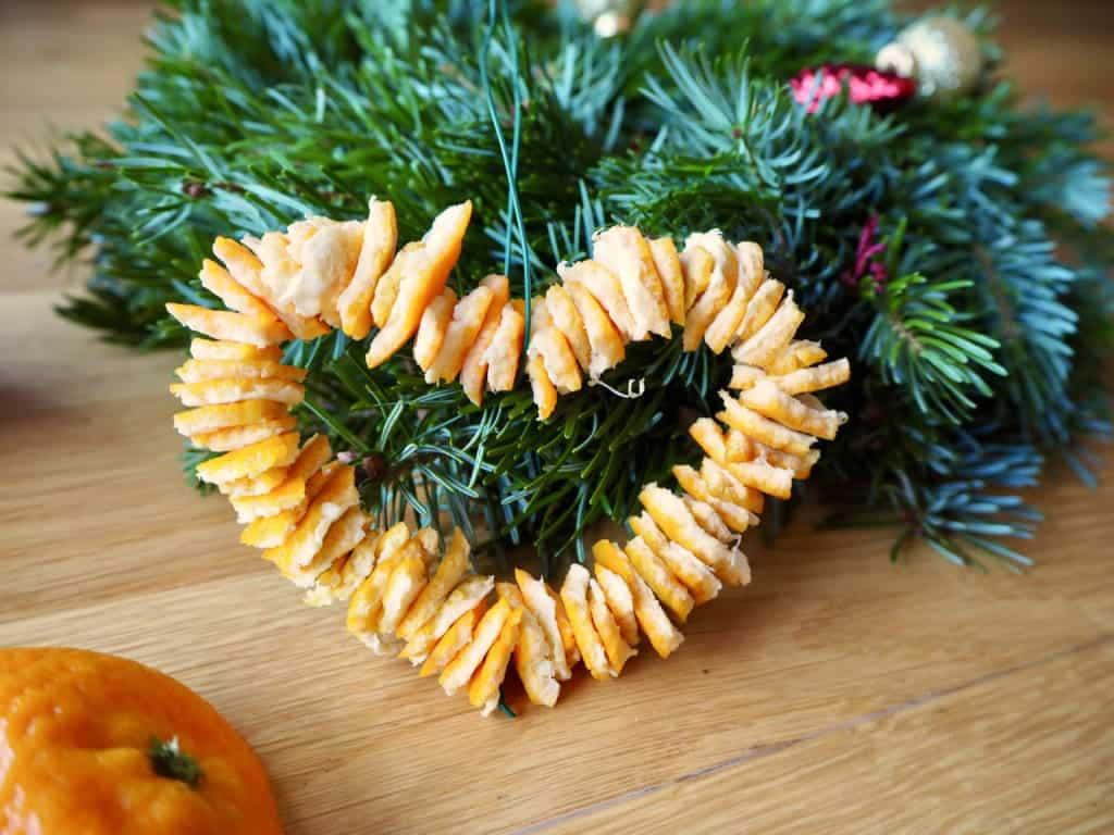 Duftherz aus Orangenschalen