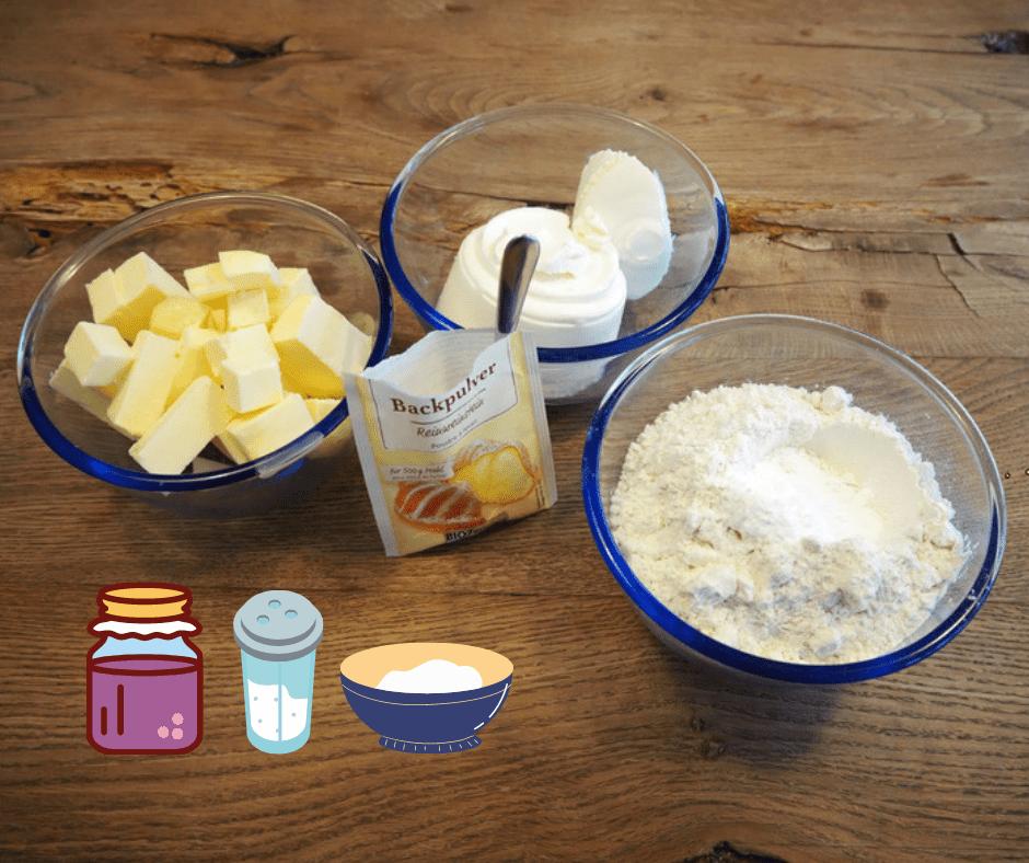 Zutaten für Polsterzipf mit Marmelade