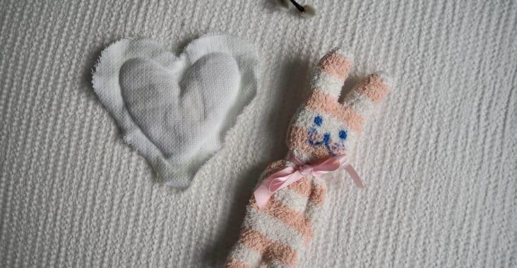Kuschelhasen nähen aus alten Socken