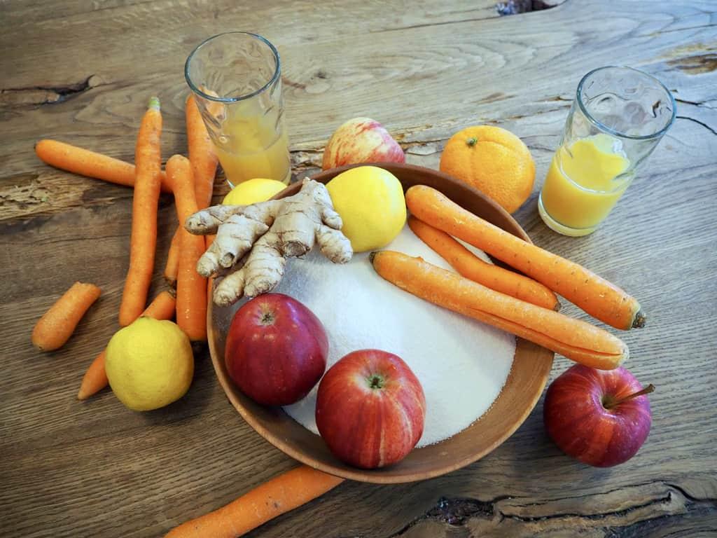 Zutaten für Hasenfrühstück
