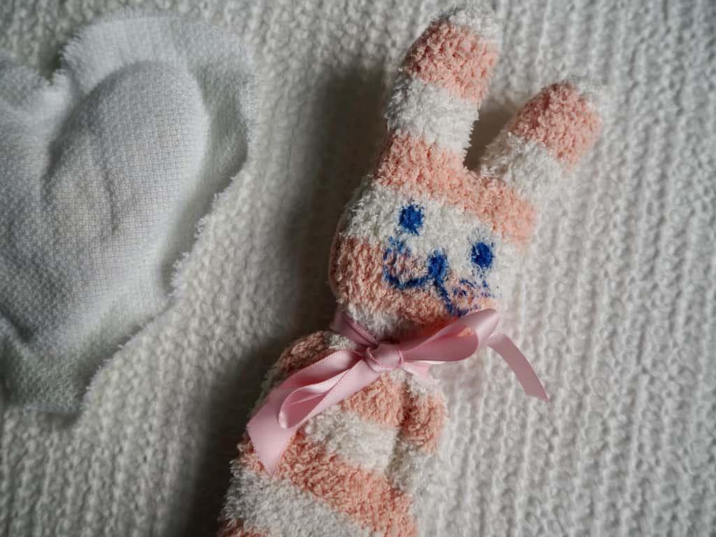 Kuschelhase aus altem Socken
