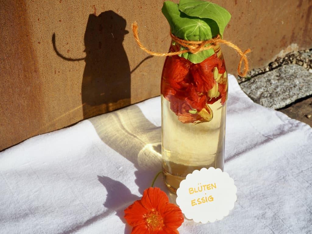 Fertiger Kapuzinerblüten-Essig