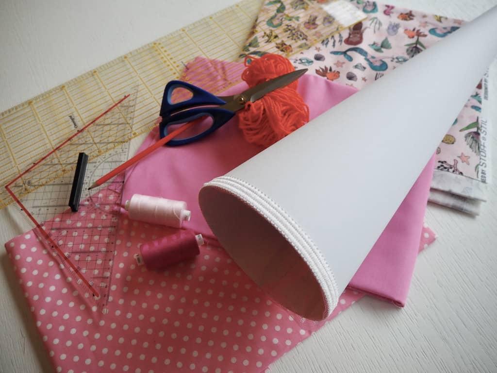 Material für selbstgemachte Schultüte