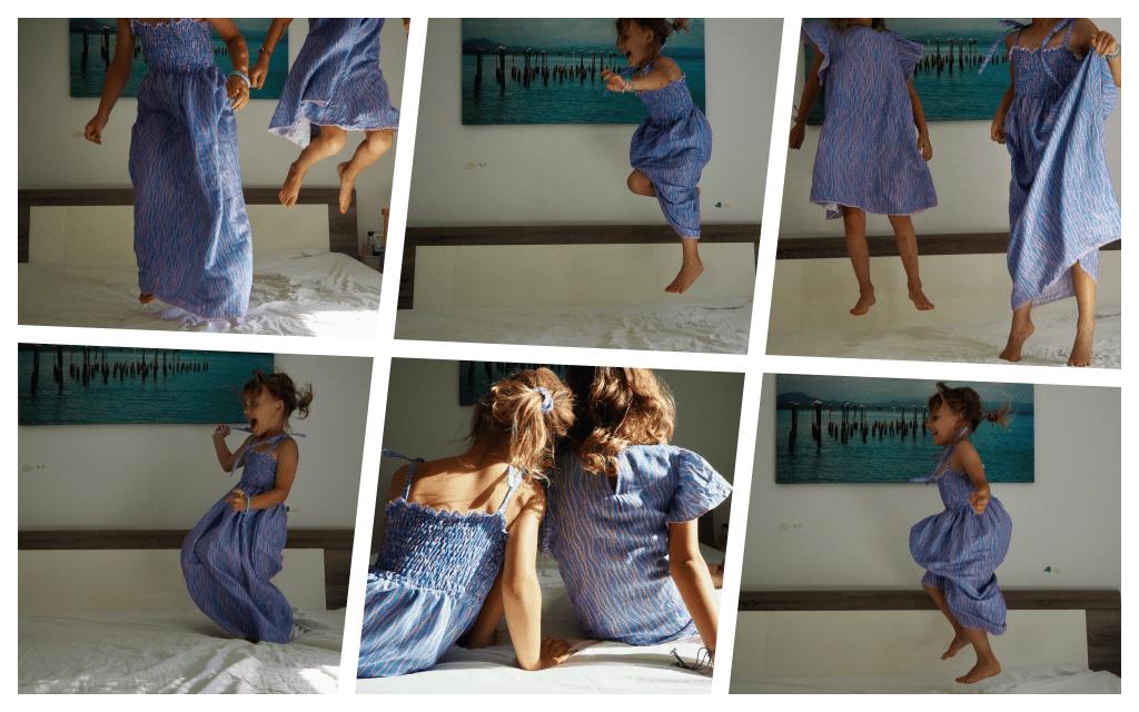 Gesmoktes Kinderkleid herumtoben